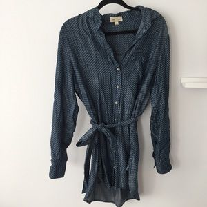 Anthropologie button up top/tunic